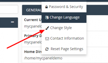 change-style-in-cpanel